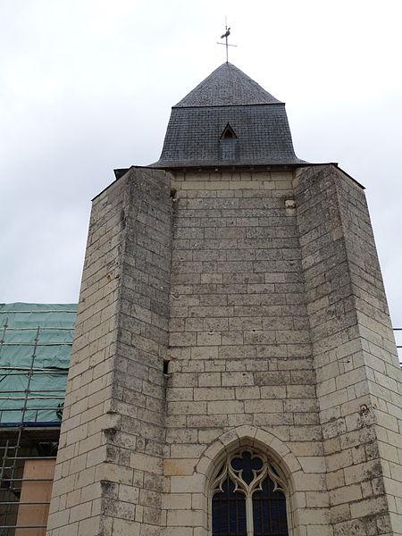 Turquant (Maine-et-Loire, France), église saint Aubin (Classée M.H.)