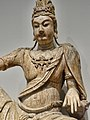Closeup of Bodhisattva Avalokiteshvara (Guanyin) Liao Dynasty 10th-11th century CE wood with gesso (6919204384).jpg
