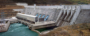 "Think Big - The Clyde Dam, a ""Think Big"" project."
