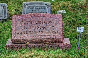 Clyde Tolson - Tolson's headstone at the Congressional Cemetery