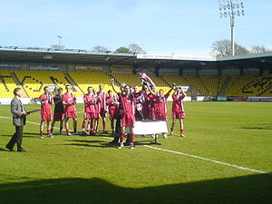 Clyde F.C. - Clyde lift the Reserve League Cup in May 2008