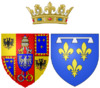 Coat of arms of Charlotte Aglaé d'Orléans as Duchess of Modena.png