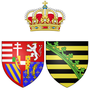 Coat of arms of Maria Ferdinanda and Maria Anna of Saxony as Grand Duchess of Tuscany.png