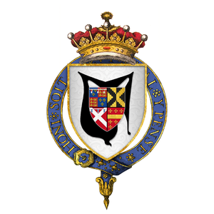 Francis Hastings, 2nd Earl of Huntingdon - Arms of Sir Francis Hastings, 2nd Earl of Huntingdon, KG