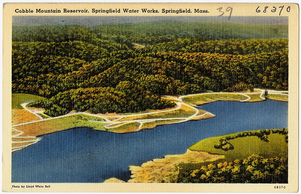 Cobble Mountain Reservoir, Springfield Water Works, Springfield, Mass (68370)