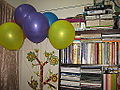 Colorful balloons and book self 01.JPG