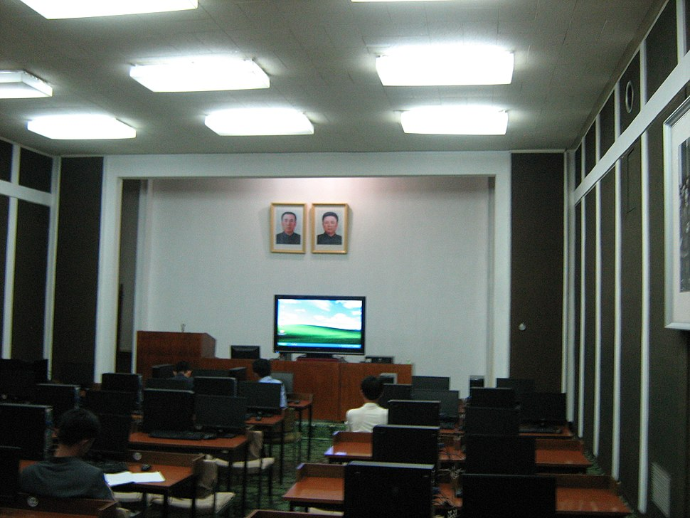 Computer lab, Pyongyang, 2012