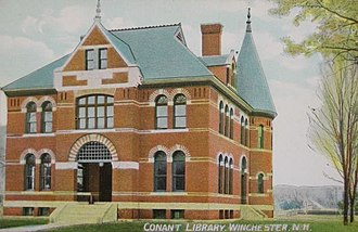 Winchester, New Hampshire - Image: Conant Library, Winchester, NH