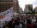 Concentració pel valencià, 9 de juny a la plaça de la Mare de Déu de València.JPG