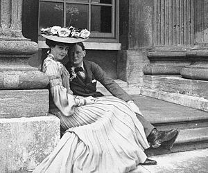 Consuelo Vanderbilt - Consuelo and Winston Churchill at Blenheim, 1902.