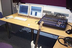 A recording studio's control room. Photo taken...