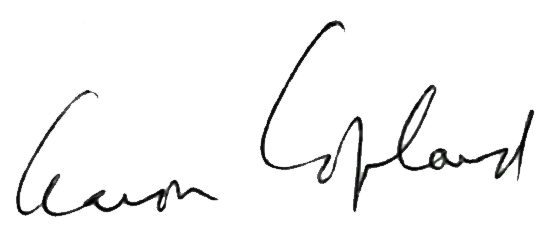 Copland autograph
