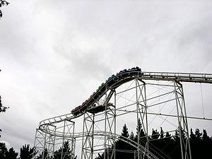 Rainbow's End (theme park) - Image: Corkscrewcoaster