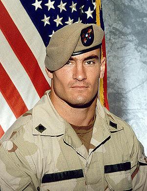 Portrait of the fallen Cpl Patrick Tillman, a ...