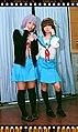 Cosplayer of Yuki Nagato and Haruhi Suzumiya 20090725.jpg