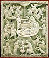 Costantinopoli, formella con natività, avorio, 1110 ca.jpg