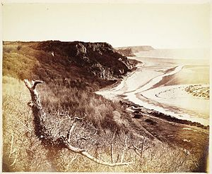 Gower Peninsula - Crawley Rocks, Gowerr in the 1850s