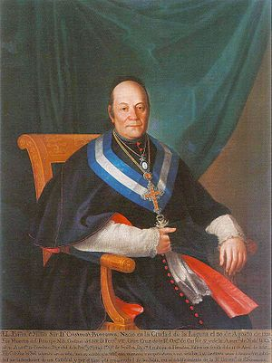 University of La Laguna - Don Cristóbal Bencomo y Rodríguez. Confessor of King Ferdinand VII of Spain and Titular Archbishop of Heraclea. It was the great promoter of the creation of the Literary University of San Fernando (forerunner of the University of La Laguna) and the Diocese of San Cristobal de La Laguna.