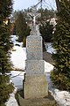 Cross near Saint Mark church in Benetice, Třebíč District.jpg