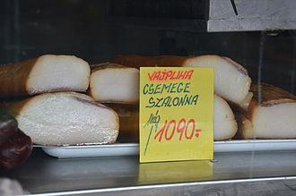 Szalonna (bacon) - Szalonna