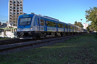 Sarmiento Line - A CSR electric multiple unit that runs the line.