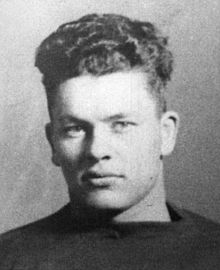 Black and white portrait of Curly Lambeau