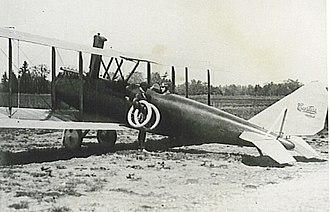 Long Branch Aerodrome - Image of Curtiss airplane at Long Branch Aerodrome in 1917.