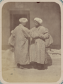 Customs of Central Asians. Two Men Greeting Each Other WDL10837.png