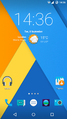 CyanogenMod 12 homescreen english.png