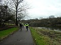 Cycling by the Clyde, Dalmarnock - geograph.org.uk - 135612.jpg