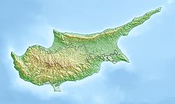 Location map Cyprus is located in Cyprus