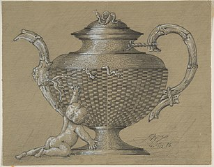 Design drawing for a teapot