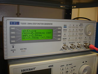 Direct digital synthesis - A DDS function generator.