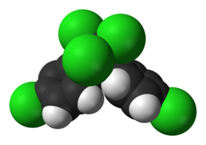 Space-filling model of the DDT molecule, C 14 ...
