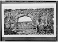 DETAIL OF ROUNDED ARCHWAY WITH WOODEN BARRIER - Santa Margarita Asistencia, Santa Margarita, San Luis Obispo County, CA HABS CAL,40-SANMAR.V,1-13.tif