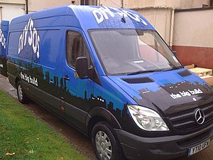 English: One of the DIY SOS: The Big Build vans