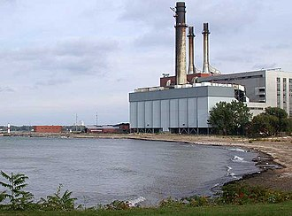 Dunkirk, New York - NRG Energy Power plant along Lake Erie in Dunkirk