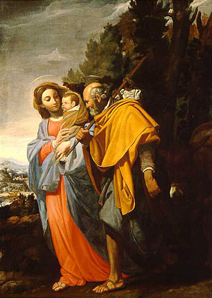 Domenico Fiasella - Flight to Egypt (1650)