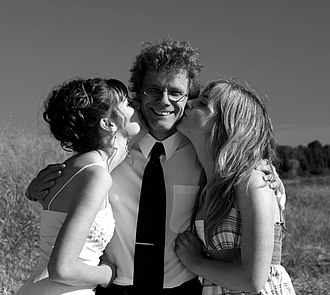Daughter - father with his daughters before prom.