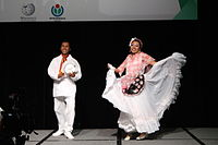 Dancing at the Wikimania 2015 Opening Ceremony IMG 7582.JPG