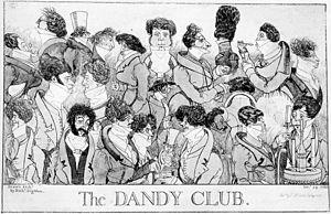 Watier's - Patrons of Watier's, The Dandy Club, Circa 1818