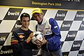 Dani Pedrosa and Valentino Rossi 2008 Donington Park 3.jpg