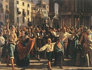 Napoleone Nani - Daniele Manin announcing Republic of Venice