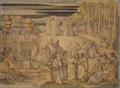 Dante im Limbus, oder dem Aufenthalt guter Seelen, aber nicht getaufter Menschen. Hier trifft er die großen Geister der antiken Zeiten und die unschuldigen Kinder (SM 942c).png