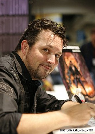 Darick Robertson - Robertson at San Diego Comicon in 2009  Copyright Darick Robertson/Aaron Munter 2009