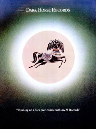 Dark Horse Records - First trade ad for Dark Horse Records, August 1974