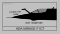 Dassault Mirage F1CT nose silhouette.png