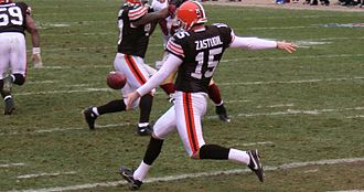 Dave Zastudil - Dave Zastudil in 2007 with the Cleveland Browns.