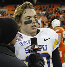 David Fales interviewed by ESPN after 2012 Military Bowl.jpg