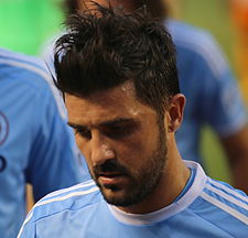 David Villa i New York Citys dräkt 2015.